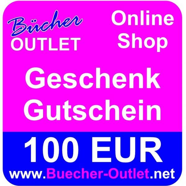 Geschenk-Gutschein 100 EUR für Bücher Outlet Online Shop
