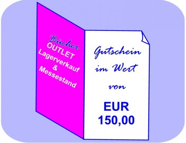 Geschenk-Gutschein 150 EUR für Bücher Outlet Lagerverkauf & Messestand