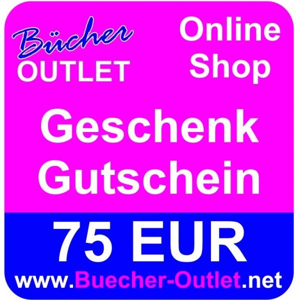 Geschenk-Gutschein 75 EUR für Bücher Outlet Online Shop