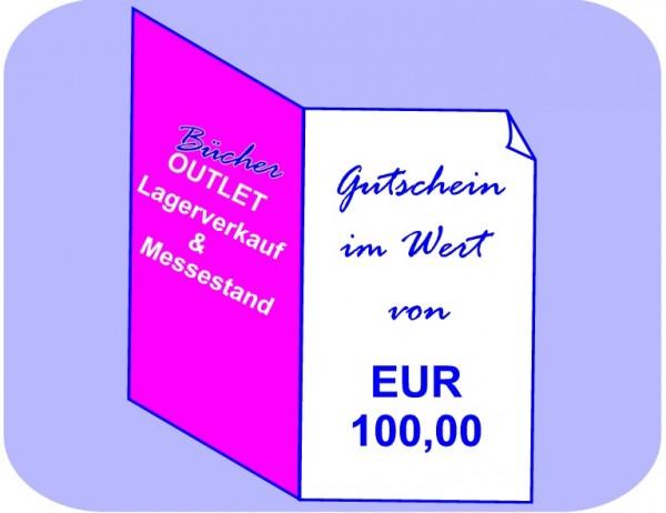 Geschenk-Gutschein 100 EUR für Bücher Outlet Lagerverkauf & Messestand