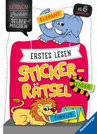 Kirstin Jebautzke: Erstes Lesen Sticker-Rätsel