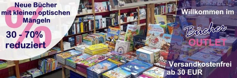 Zur Startseite - Bücher Outlet Online Shop - Neue Bücher mit kleinen optischen Mängeln - Mängelexempalre günstig kaufen.