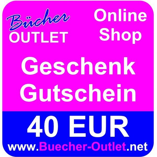 Geschenk-Gutschein 40 EUR für Bücher Outlet Online Shop
