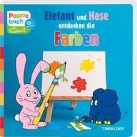 Katja Baier: Pappebuch. Elefant und Hase entdecken die Farben