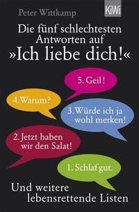 Peter Wittkamp: Die fünf schlechtesten Antworten auf Ich liebe dich!