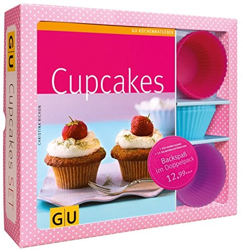 Christina Richon: Cupcakes Set, mit 12 Silikonbackförmchen