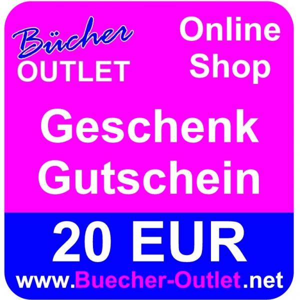 Geschenk-Gutschein 20 EUR für Bücher Outlet Online Shop