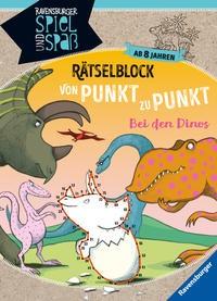 Martine Richter: Rätselblock von Punkt zu Punkt: Bei den Dinos