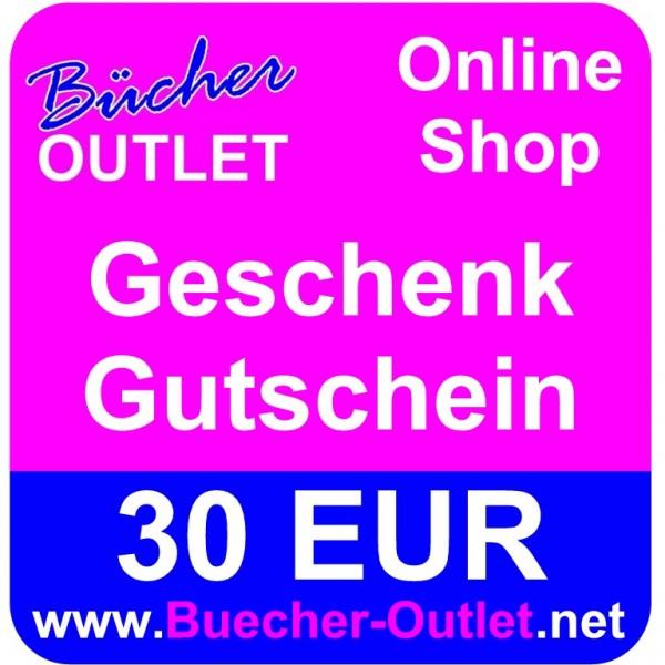 Geschenk-Gutschein 30 EUR für Bücher Outlet Online Shop