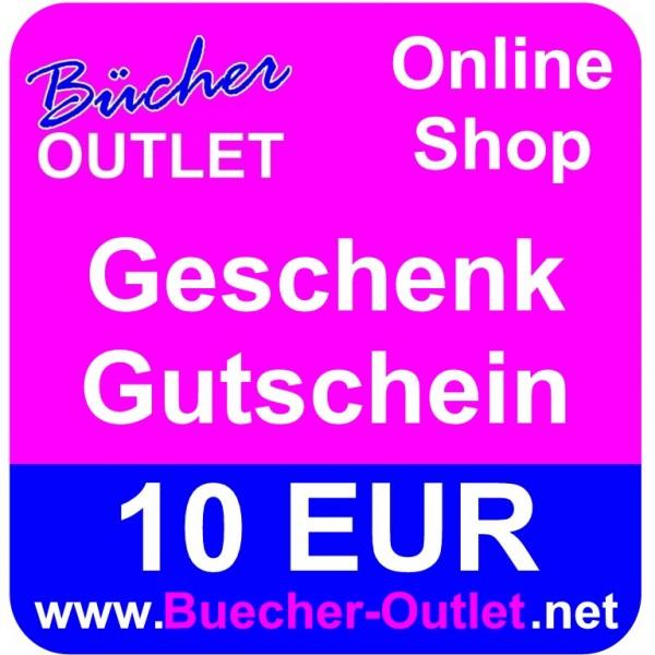 Geschenk-Gutschein 10 EUR für Bücher Outlet Online Shop