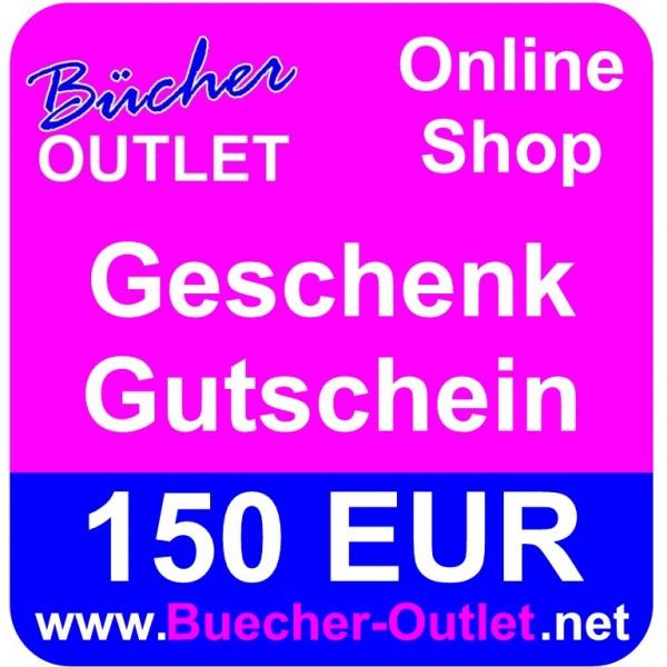 Geschenk-Gutschein 150 EUR für Bücher Outlet Online Shop
