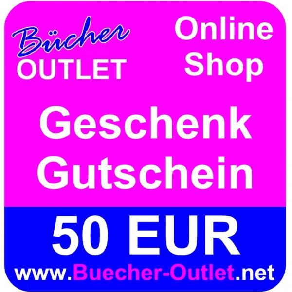 Geschenk-Gutschein 50 EUR für Bücher Outlet Online Shop